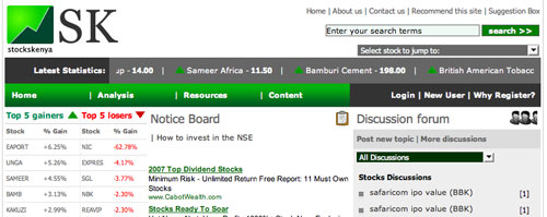 StocksKenya Homepage