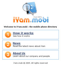 iYam - mobile mobile phone directory from Cameroon