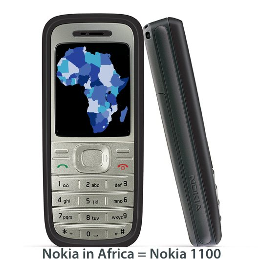 Nokia in Africa - little innovation since the nokia 1100 flashlight on a phone