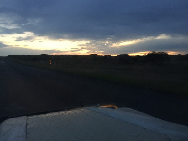 Driving at the crack of dawn